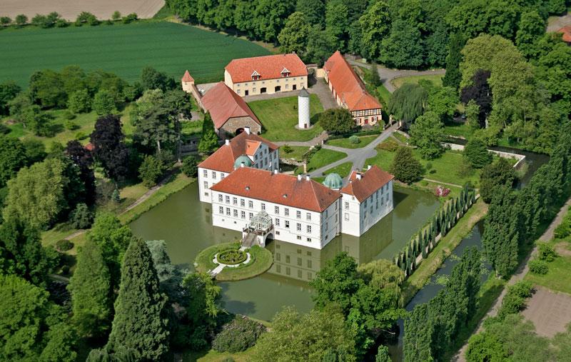 Schloss Hünnefeld Luftaufnahme Bad Essen